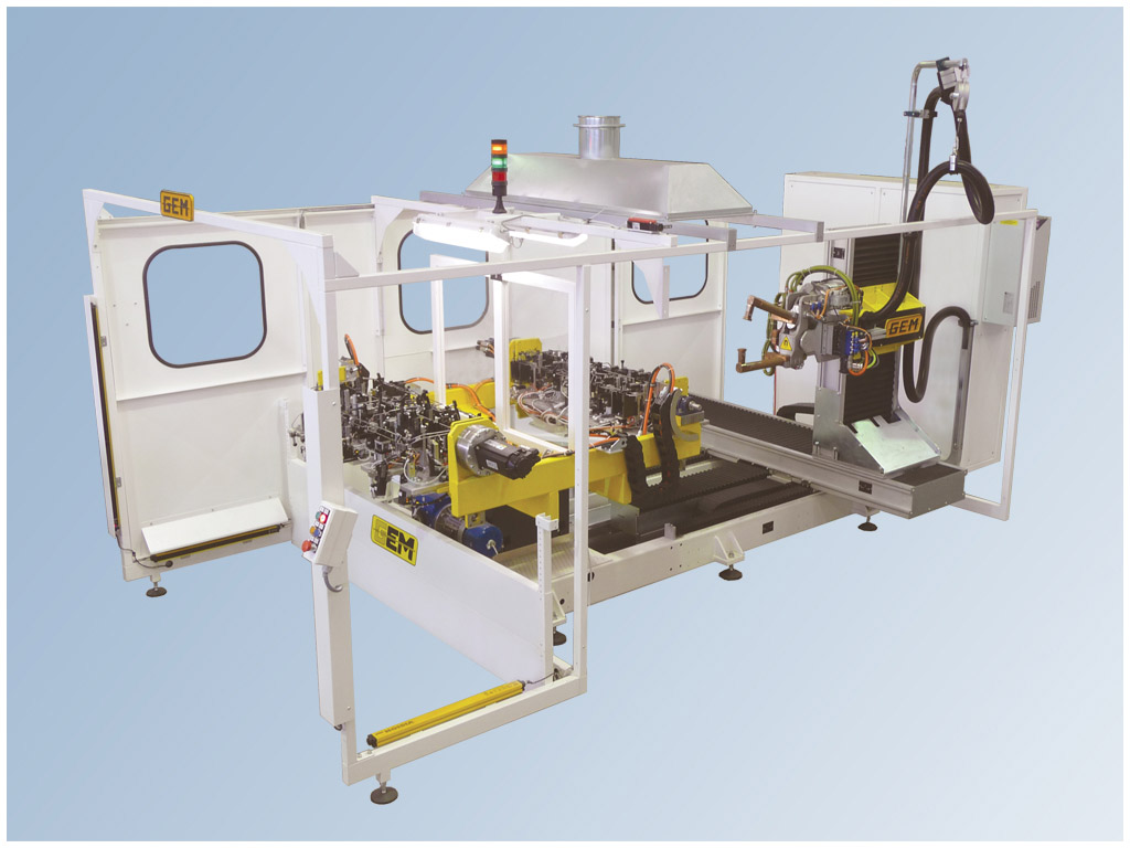 Impianto Robot per la saldatura a resistenza 6 o 7 assi
