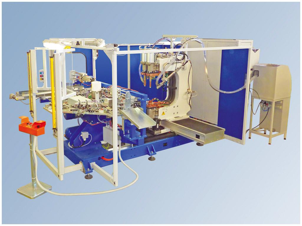 Marta System 6 - 8 ax, Stazione di saldatura a proiezione a 6, 8 assi con tavola rotante a 4 stazioni