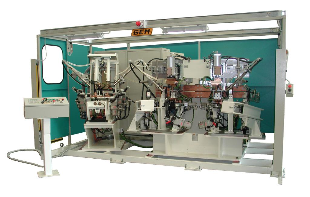 Puntatrice multipla con vari cilindri di saldatura