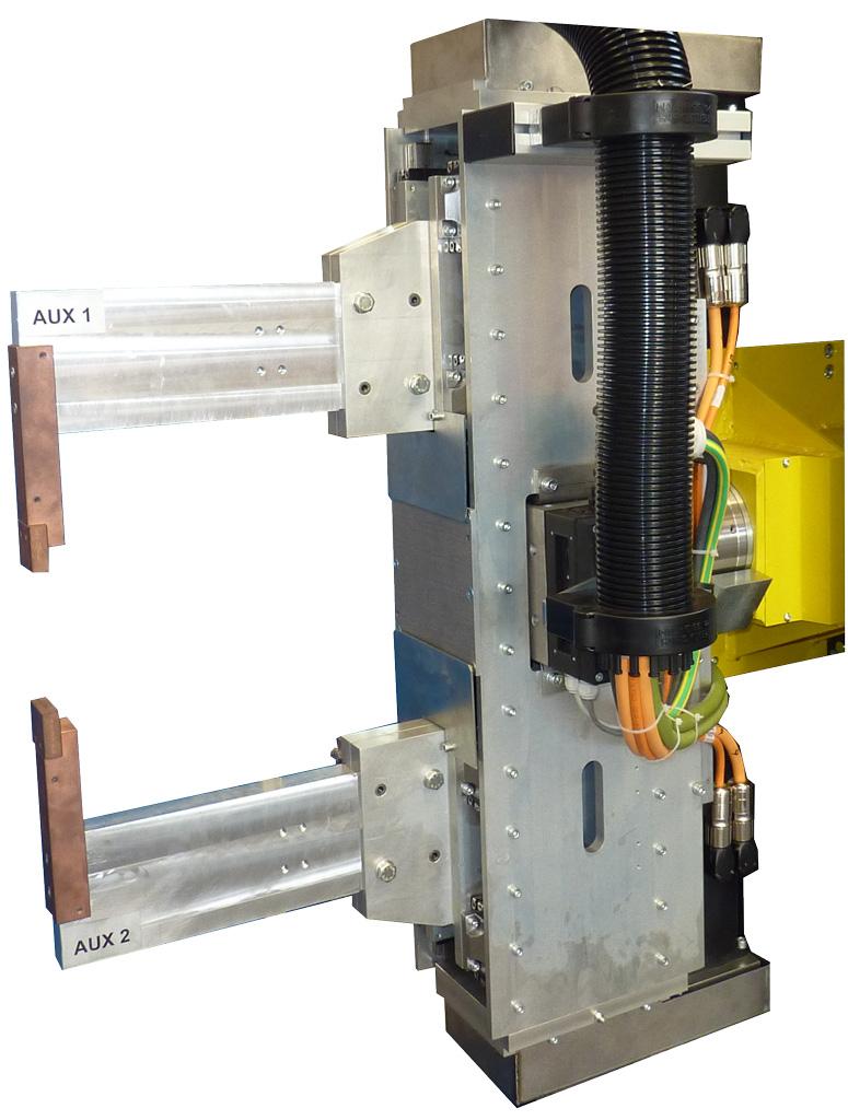 Pinza parallela a cilindri elettrici contrapposti