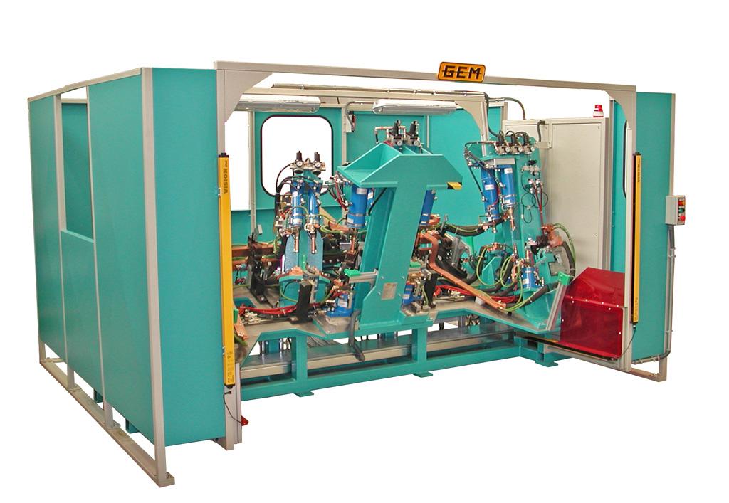 Puntatrice multipla automatica a doppia posiozione con vari cilindri di saldatura