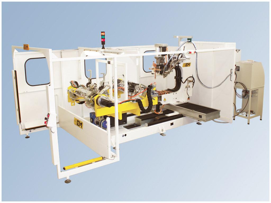 Workstation robotizzata per la saldatura a resistenza Marta System 6-8 assi