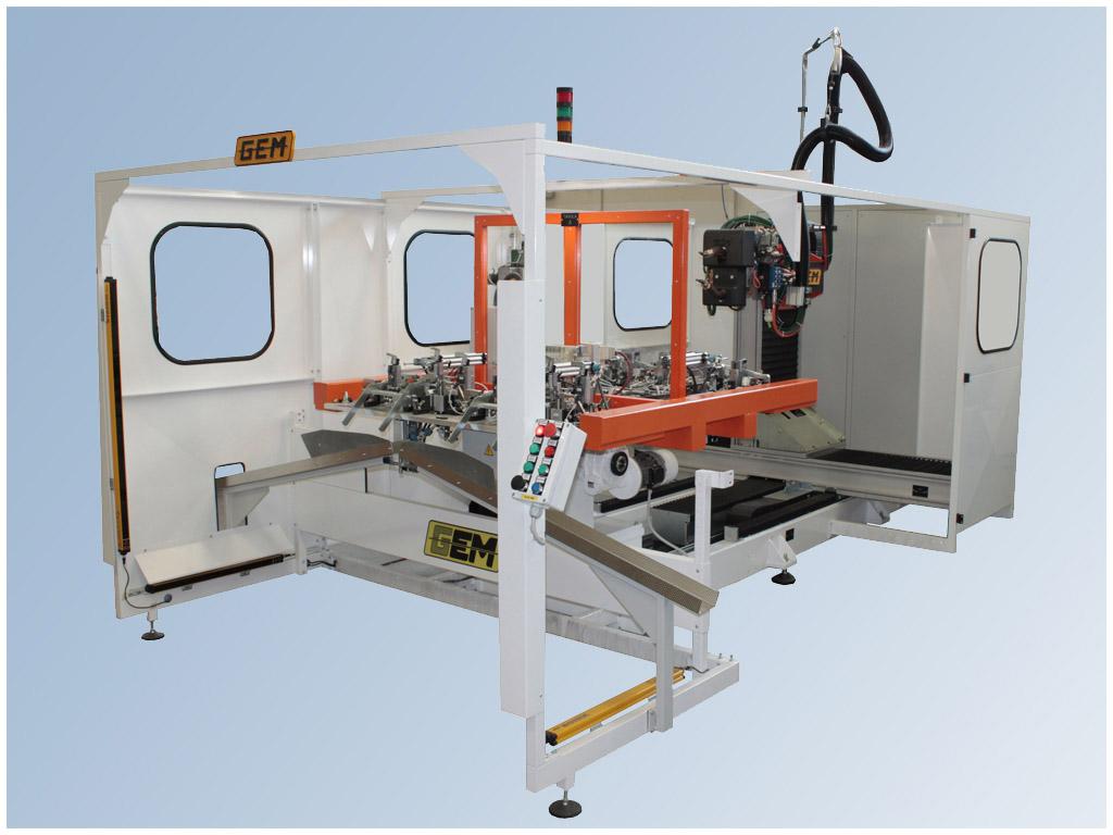 Workstation robotizzata per la saldatura a resistenza