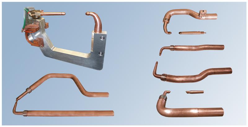Elettrodi, portaelettrodi e bracci in lega di rame o alluminio per saldatura a resistenza